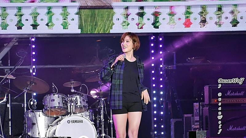 [4K]180819 (조정석과 결혼을 앞둔) 거미(Gummy) 가로 직캠 Full 2018 기장임랑 해변대학가요제 by BusanW