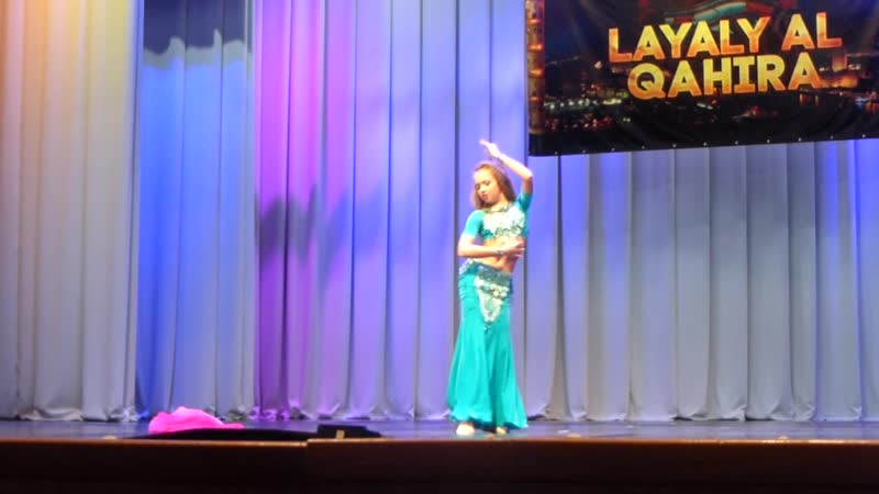 Буничева Виктория номинация юниоры 1 продолжающие 2 место в конкурсе Layaly Al Qahira