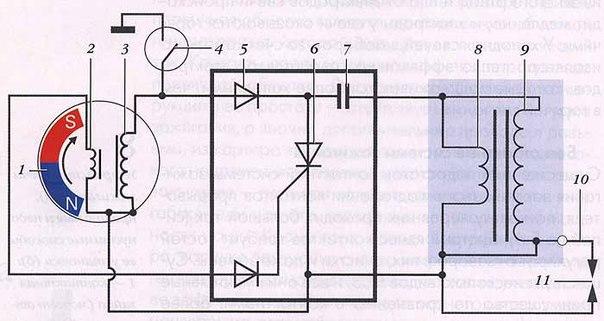 Схема зажигания, использующая