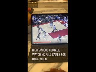 Bron re-watching old high school tapes from 2002