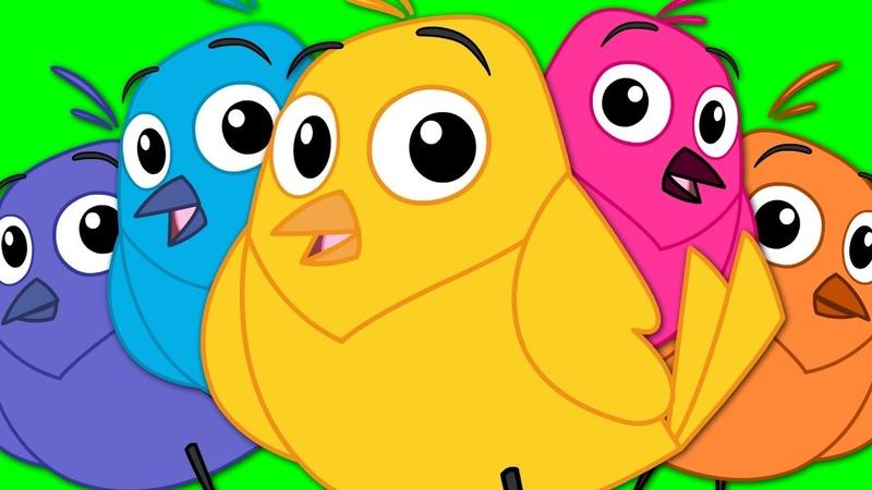 Five Little Birds | Children's Nursery Rhymes | Bird Song | Kids TV