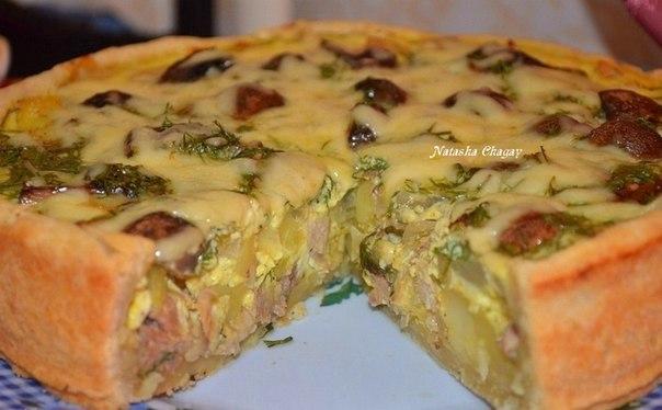 Открытый пирог с фаршем пошаговый рецепт