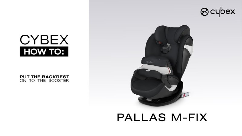 CYBEX HOW TO – Reconnecting backrest on CYBEX Pallas