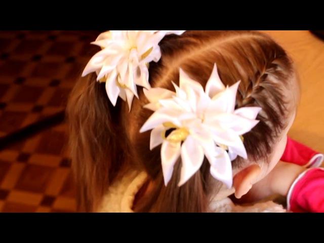 Peinado infantil festivo el 8 de marzo, matinal.