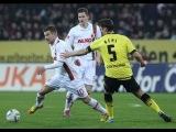 Боруссия Д - Аугсбург 2:2.Чемпионат Германии,18-й тур.Обзор матча HD