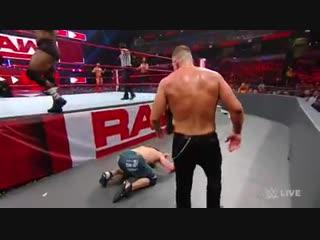 WWE Raw: Seth Rollins, Finn Bálor & John Cena battle Drew McIntyre, Dean Ambrose & Bobby Lashley