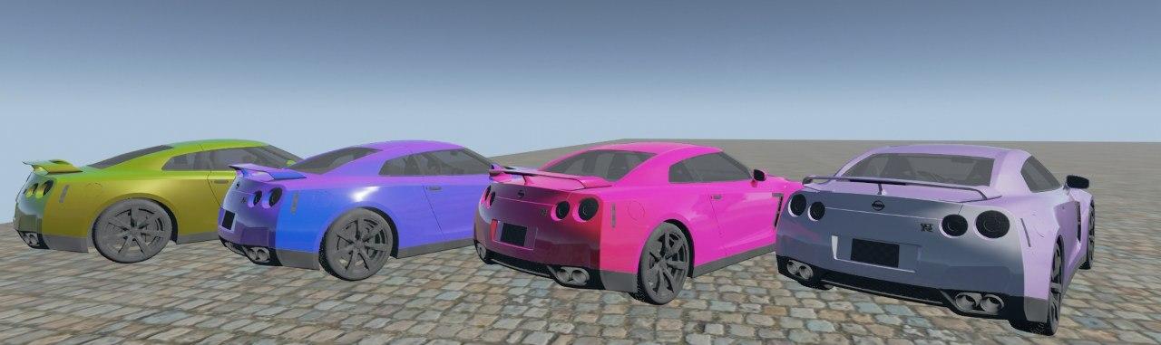 Материал автомобильной краски для unreal engine 4