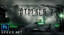 Stalker 2 арт в фотошопе speed art 4K   Stalker 2 art in photoshop