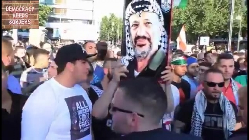 In Merkels Germany - Muslims march through the streets shouting Jew, Jew, cowardly pig, come on out fight on your own