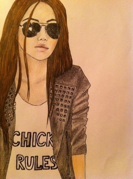 Картинки на аву для девочек нарисованные