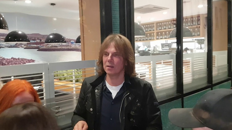 Joey Tempest of Europe last Night in Dublin Olympia Theatre signing Autographs.