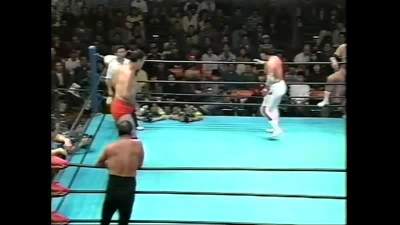 1997 11 16 Giant Baba Rusher Kimura Mitsuo Momota vs Haruka Eigen Masanobu Fuchi Tsuyoshi Kikuchi