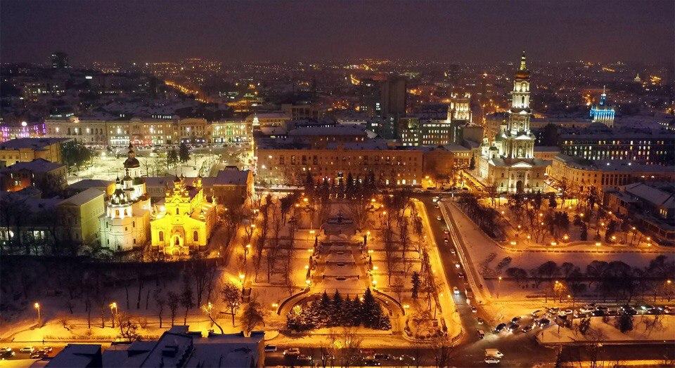 Харьков засиял огнями (ФОТО)