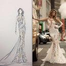 Потрясающие эскизы элегантных платьев ❣