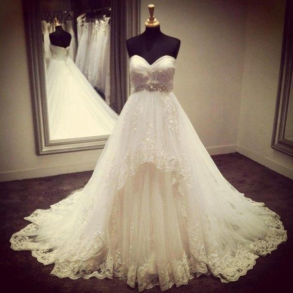 свадебные платья с шлейфом фото