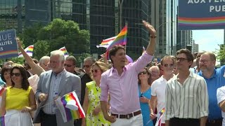 Trudeau, Quebec dignitaries march in Montreal Pride parade