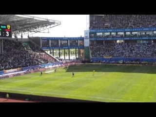 Серия пенальти Финал кубка России 2012/13 Анжи - ЦСКА вид с трибун.