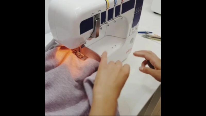 Обработка низа изделия на распошивальной машине