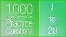 [1-20] 1000 English Grammar Test Practice Questions