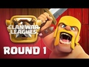 Clan War Leagues - TH12 Attacks - Clash of Clans - Round 1  Sc studio