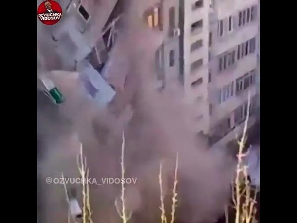 взрыв дома, чихнула, прикол, нос, женщина