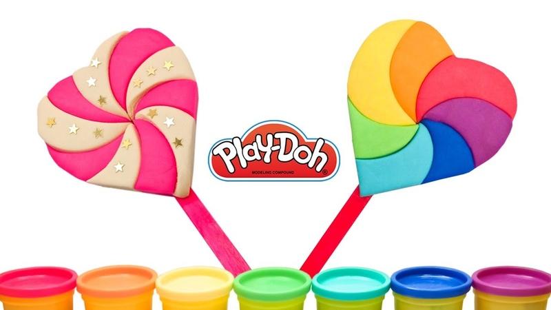 Подарок цветов радуги Как сделать леденец радужное сердечко своими руками Lollipop