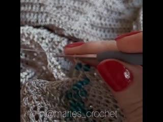 Вязание крючком  с бусинами