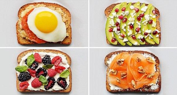 20 крутых бутербродов на завтрак: ↪ День нужно начинать с вкусноты!