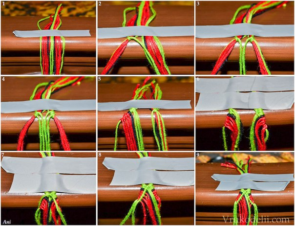 Как сделать ленту из ниток