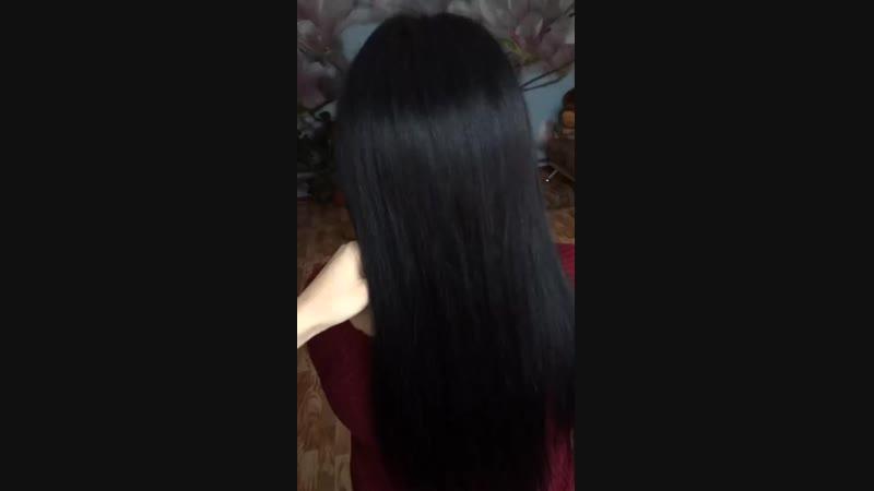 Кератиновое выпрямление🌸 состав смыт, волосы высушены феном без расчески