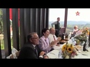 кадры зажигательного танца кубанского казачьего хора с гостями свадьбы в Австрии