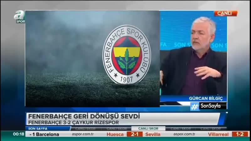 Fenerbahçe 3-2 Ç. Rizespor - Gürcan Bilgiç, Okan Koç Yorumları - Son Sayfa