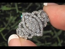 White Diamond Cocktail Ring 18k White Gold Certified VS/SI F-G Color 2.08 TCW - C1186