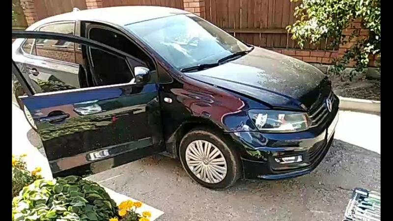 VW POLO ПЕРЕТЯЖКА КАРПЕТОМ И ШУМКА КРЫШИ