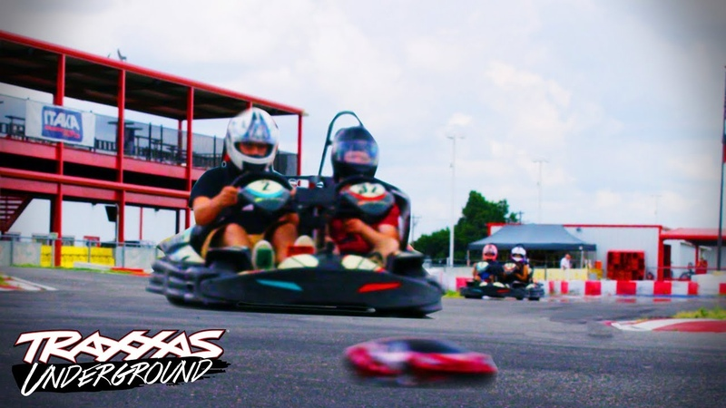 RC Car vs. 60mph Race Karts! | Traxxas Underground