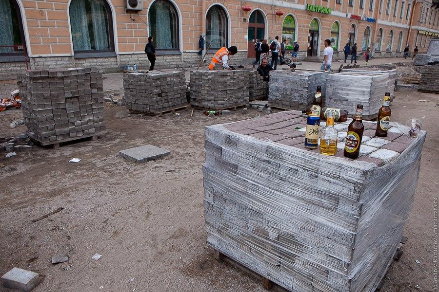 ремонт тротуара Петербург