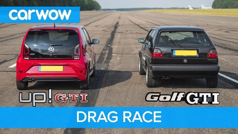 VW Golf GTI MK2 vs up! GTI - DRAG ROLLING RACE   carwow