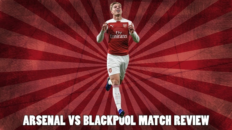 Arsenal vs Blackpool Match Review | Guendouzi Gets Red Card Smith-Rowe Scores