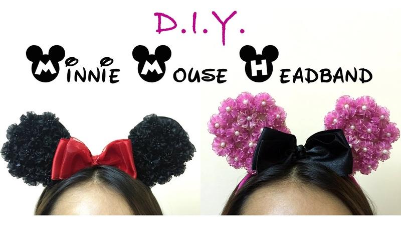 ✾ D.I.Y. Organza Flower Minnie Mouse Headband | MyInDulzens ✾