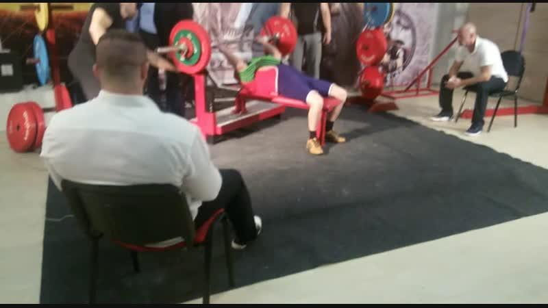 Космынин 1 место - вес 162,5 кг в софт экипировке