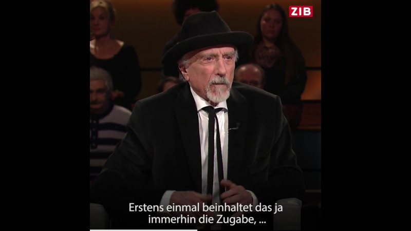 2018-03-11 ORF, ZIB Arik Brauer Die Einwanderung ist das Problem