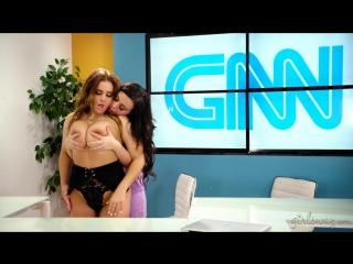 Whitney Wright and Natasha Nice - Lesbian News Anchors [Lesbian]