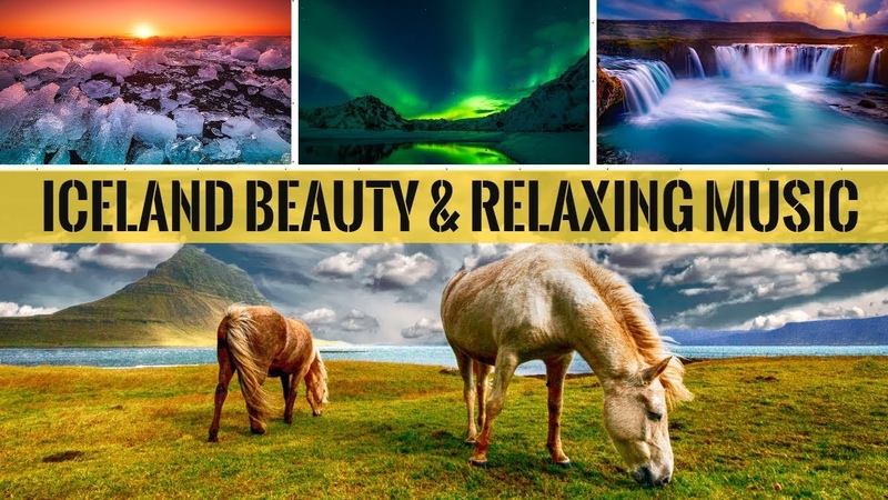 Soothing Relaxation Music Ocean Waves Sounds With Iceland Natural Beauty For Sleeping Meditation