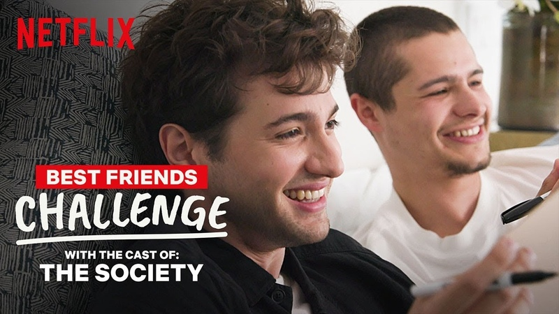 The Society Cast Toby Wallace Alex Fitzalan Best Friends Challenge | Netflix