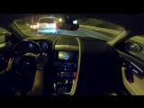 Cruising at night in my Jaguar F-Type Coupe S