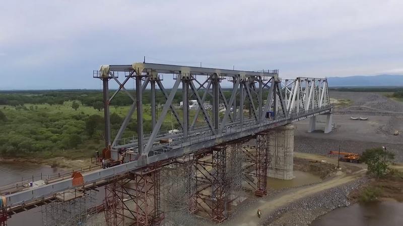 Трансграничный мост на фарватере Амура в ЕАО - DJI Phantom 3 standard