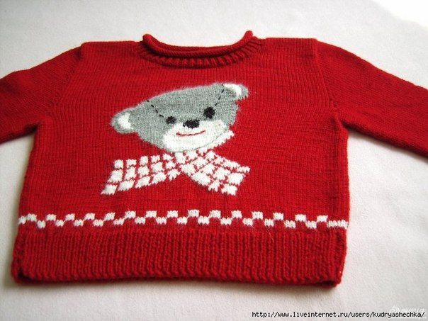 Детский пуловер спицами. (3 фото) - картинка