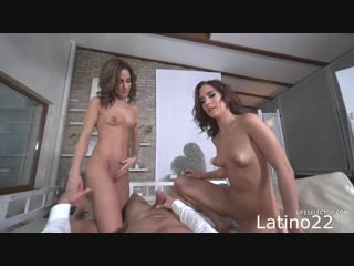 Kitty Fox and Nikky Fox - Real Twins Miss Spectacular The Beginning [All Sex, Hardcore, Blowjob, Threesome]