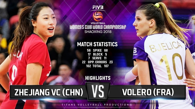 Zhejiang (CHI) vs. Volero (FRA) - Highlights | FIVB Women's Club World Championships 2018