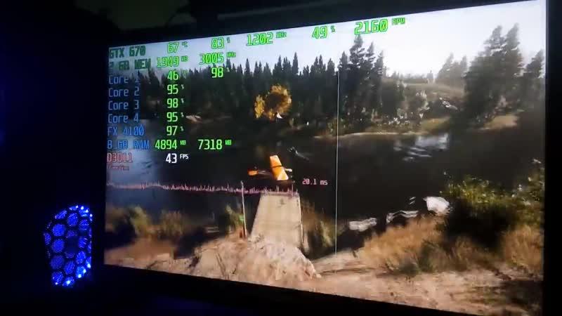 [Bar Boss] Тест AMD FX-4100, GTX 670 2Gb, 8Gb DDR3 (DOOM, BF1, CoD WWII, GTA 5, Far Cry 5, CSGO, WoT)